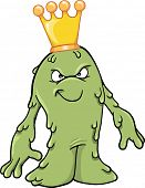 Booger Slime King Vector Illustration