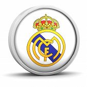 Real Madrid  symbol with round frame on a white background