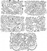 Doodle Sketch Vector Illustration Set
