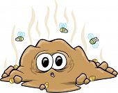 surprise Poop Turd Vector Illustration