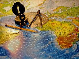 stock photo of treasure map  - around the world - JPG