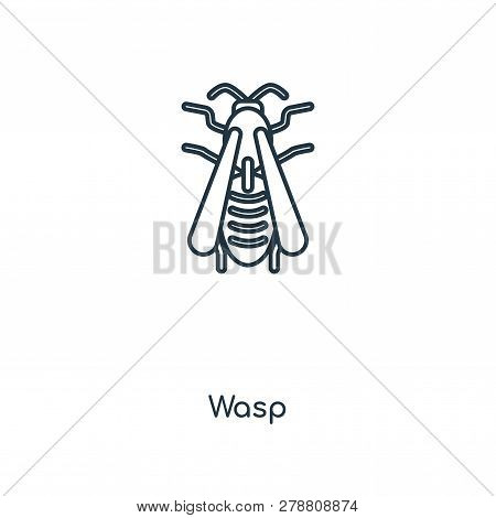 Wasp Icon In Trendy Design