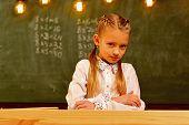 Future Education. Future Education In Modern School. Future Education For Pretty Girl. Future Educat poster