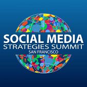 Social Media Strategies Summit  San Francisco 2019. Social Network Business Marketing Vector Banner  poster