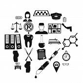 Business Career Icons Set. Isometric Set Of 25 Business Career Icons For Web Isolated On White Backg poster