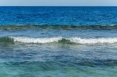 The Sea And The Waves. Beautiful Waves In The Sea. Small Waves On The Sea. poster