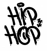 Decorative Lettering hip Hop Rap Battle Music In Graffiti Bombing Tag Style On Wall By Using Aeros poster