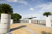 stock photo of guayaquil  - seaside malecon 2000 park and pedestrian walkway guayaquil eduador south america - JPG