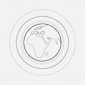 World Atmosphere Icon Line Element.  Illustration Of World Atmosphere Icon Line Isolated On Clean Ba poster
