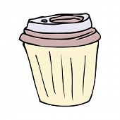 takeout coffee cup drawing