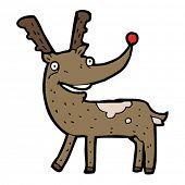 stock photo of rudolf  - rudolf the red nosed reindeer cartoon - JPG