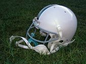 stock photo of football helmet  - junior league football helmet - JPG