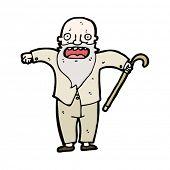 dibujos animados de anciano