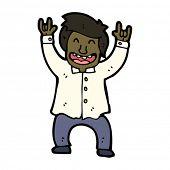 happy office worker cartoon
