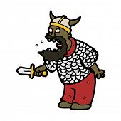 stock photo of berserk  - viking berserker cartoon - JPG