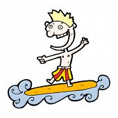 desenho de cara de surfista