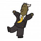 cartoon boss falling over