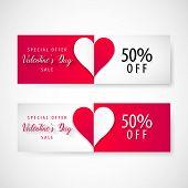 Valentines Day Sale Banner, Vector, Illustration, Eps File poster