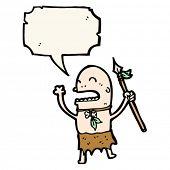 Cartoon Stammesangehörige mit Speer