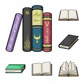 Vector Illustration Of Library And Textbook Logo. Collection Of Library And School Vector Icon For S poster