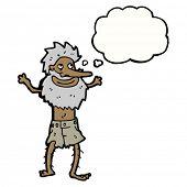 cartoon happy shipwrecked man