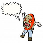cartoon cannibal mask man