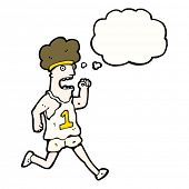 cartoon marathon runner