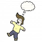cartoon man falling backwards