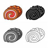 Vector Design Of Confectionery And Culinary Symbol. Collection Of Confectionery And Product Stock Ve poster