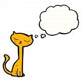cartoon cat daydreaming