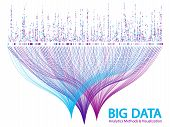 Big Data Statistical Methods Visualization Concept Vector Design. 0 And 1 Binary Code Data Visualiza poster