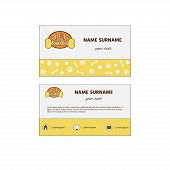 Ornamental Business Card With Logo Pet Shop. Pet Shop Design Hand Card And Card Brochure Template In poster