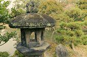 Stone Lantern In Zen Garden