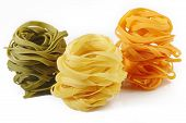 Fettuccine Pasta On White Background