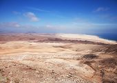 Northern Fuerteventura, View North From Montana Roja (red Mountain)