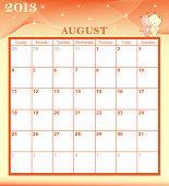 Calendar 2013 August