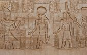 Carving Of Egyptian Gods