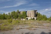 Abandoned Industrial Concrete Silos