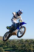 Motocross Rider Jumping