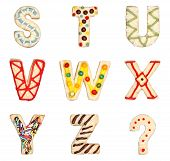 Letters S To Z From Decorated Cookies