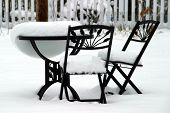 Bistro Set Melting