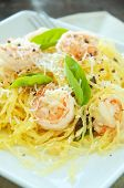 Spaghetti Squash &Shrimp