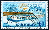 Estampilla Italia 1956 Ice Racing, LakeMisurina