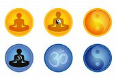 Set Of Meditation Signs