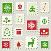 Postage Stamps Winter set