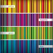 Seamles Pattern Stripes Set. Vector.