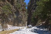 pic of samaria  - Samaria gorge at Crete island in Greece - JPG