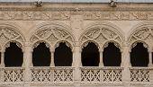 Detail Of The Patio Del Colegio De San Gregorio Of Valladolid