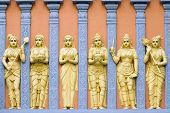 Hindu Temple Goddess And Priestess Wall Carvings