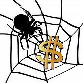 Spider And Dollar Sign.